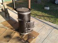 Металлическая печь для казана своими руками