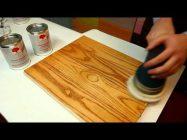 Полировка лака после покраски дерева